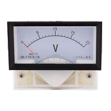 DC 20V Class 1.5 Plastic Analog Panel Voltage Voltmeter Meter Gauge DC 0-20V