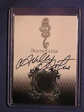 Harry Potter-GOF-Authentic-Autograph-Costume Card-Ashley Artus-Death Eater-DE1