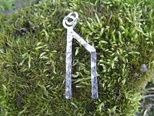 Viking Runes the letter  the letter U, URUZ Sterling silver pendant with chain