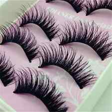 5 Pairs Lots Natural Long Black Eye Lashes Makeup Thick Fake False Eyelashes New