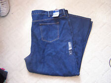 Basic Editions Men's Denim Blue Jeans Size 50x30 Relaxed Fit Big and Tall NWT