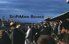 KODACHROME 35mm Slide France Le Mans Race Track Circuit Old Cars People 1961!!!