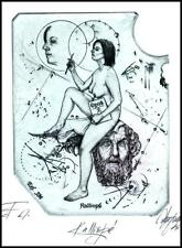 Hujber Gunter C2 Exlibris 2012 Mythology Kalliope Erotic Nude Woman Music 56