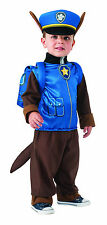 Kids Chase Paw Patrol Costume Police Dog Child Size Small 4-6