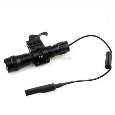 New Tactical Cree T6 LED Torch Flashlight W Quick Release Picatinny Rail Mount