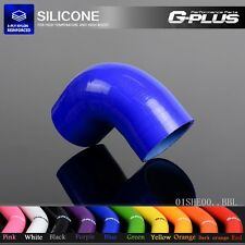 "1 3/8"" 35MM 90° Degree Hose Turbo Silicone Elbow Coupler Pipe Hose Blue"