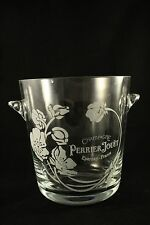PERRIER JOUET CHAMPAGNE GLASS ICE BUCKET / COOLER WITH TWO  FLUTES
