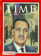 1958 Time Magazine: Ferhat Abbas President National Constituent Assembly Algeria