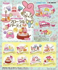 Re-ment Miniatures Sanrio My Melody Floral Party # Full set of 8
