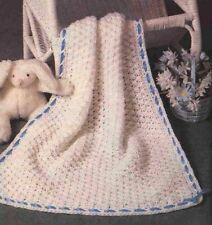 Crochet Pattern Baby Pram Blanket Throw Quick To Make