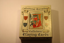 Medieval Heraldry Collectors Playing Cards NEW CONDITION GOLD AND GILT EDGING