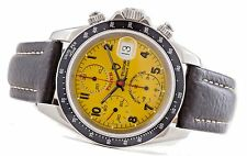 Tudor Tiger Prince Chronograph 79260P Yellow Dial Leather Strap 40mm Automatic