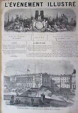 LA COMMUNE DE PARIS GRAVURES JOURNAL L EVENEMENT ILLUSTRE N° 6 de 1871