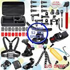52in1 Head Chest Mount Floating Monopod Accessories Kit For GoPro 2 3 4  Camera