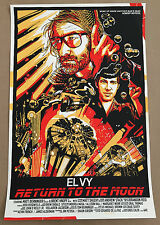 Tyler Stout EL VY Blade Runner Return to the Moon Screenprint Gig Poster Yellow