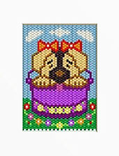 Doggie In A Basket Beaded Banner Pattern