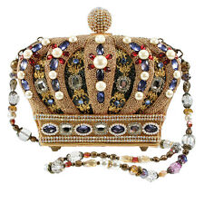 Mary Frances Queendom Crown Queen Gold Multi Beaded New Handbag Purse Bag New