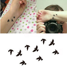 Flying Birds Swallow Temporary Tattoo Transfer Fake Indie Totem Body Art UK #426
