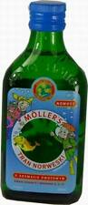 TRAN MOLLERS TASTE FRUIT 250 ml Mollers Jecoris Aselli oleum FISH OIL BLUE CORK