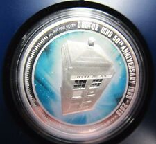 Dr Who 50th Anniversary Tardis 2013 $2 Silver Proof Coin Brand New Perth Mint