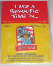 New BUILD-A-BEAR NEW YORK Collectibear PIN New in Package Collectible