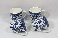 Ralph Lauren Mandarin Blue Porcelain China Coffee Mugs Set of Four New