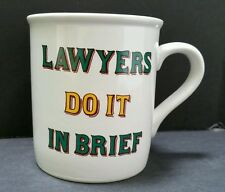 Lawyers Do It In Brief Coffee Mug Tea Cup Designed by Papel Vintage Novelty Gift