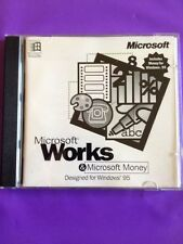 MICROSOFT WORKS & MONEY FOR WINDOWS 95 GENUINE WITH KEY