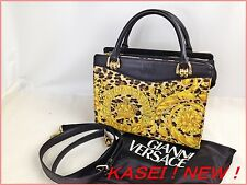Auth Gianni Versace Shoulder Bag 2way storage bag with 6C160240