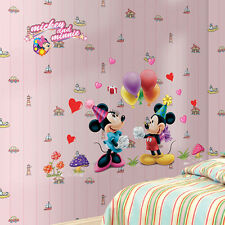 New Mickey Minnie Mouse kids Room Home Decor Wall Stickers Cartoon Wall Decals