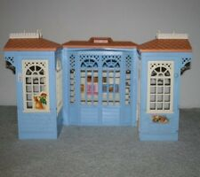 Barbie Doll House Blue Victorian Cottage Multi Transforming Fold Out Rooms Sound