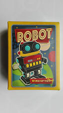 WIND UP RETRO TOY MARCHING BLACK & RED SPACE ROBOT ~ WIND UP CLASSIC TOY  16558