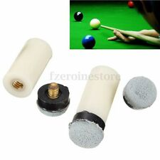 NEW Pool Cue Stick Ferrules & 3 Screw-On Tips 13mm Soft Assortment Billiards