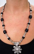 Moroccan Women African Necklace Handmade Berber Stones Beads Pendant Ethnic