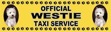 WESTIE OFFICIAL TAXI SERVICE Dog Car Sticker  By Starprint