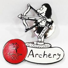 ARCHERY CARTOON HERALD SYDNEY OLYMPIC GAMES 2000 PIN COLLECT #677