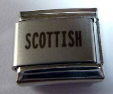 SCOTTISH Italian Charm I LOVE SCOTLAND Proud to be from Pride 9mm Classic Size