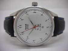 VINTAGE HMT JANATA HINDI HAND WINDING GENTS STEEL WHITE DIAL WATCH RUN ORDER