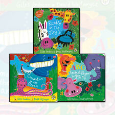 Giles Andreae Collection 3 Books Set Commotion In The Ocean,Rumble in the Jungle