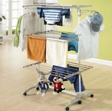 6 Tiers Extra Large Clothes Horse One Touch Movable Airer Laundry Hanging Rack