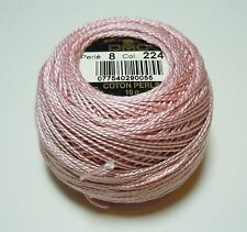 DMC Pearl Cotton Ball (10 gram) Size 8 Color #224 Very Light Shell Pink