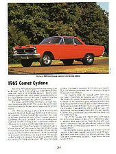 1965 Mercury Comet Cyclone Article - Must See !!