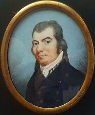Miniatur Portrait eines vornehmen Herren, Gouache, um 1800