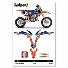 2016 KTM SX 65 Team Issue LO Motocross Graphics Dirt Bike Graphic Decal