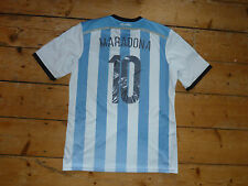 "size:XL  ARGENTINA football SHIRT ""MARADONA 10""  SOCCER JERSEY 2013 Home shirt"