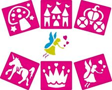 6 Fairy Themed Stencils for Children Arts Crafts And Painting Kids Toy