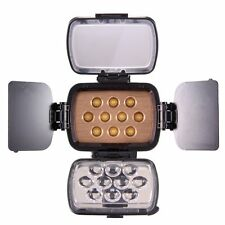 Cameraplus ® Universal Professional alta luminosità 10 LED Luce video + F750 BAT