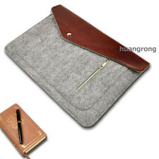 "Wool leather Laptop Notebook Sleeve case 1 For 13"" inch 13.3"" Apple MacBook Pro"