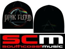 PINK FLOYD DARK SIDE OF THE MOON LOGO BLACK BEANIE  CAP