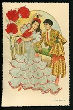 Embroidered clothing postcard Spain Cordoba woman #29 matador bull fighter man
